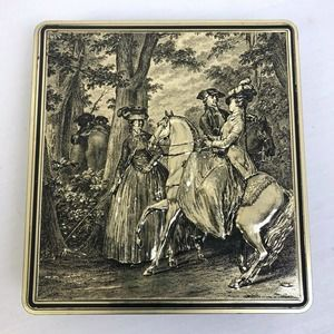 Vintage Embossed Candy Tin Silver